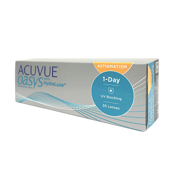 Фото Контактные линзы 1-DAY Acuvue Oasys for Astigmatism (30 шт.) 1